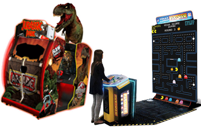 Play a game of air hockey, Jurassic Park, or the Worlds Largest Pac-Man. Arcade games for all ages and skill levels.