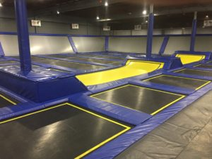 Main trampoline court for Birthday Parties in Colorado Springs, CO