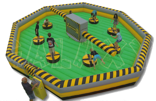New Attraction Game, Wipeout, Jump, Dodge, Duck the swinging arms of this new family fun game,