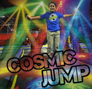 Cosmic Jump, Trampolines, Black Lights, Kids activity, Indoors, Play center