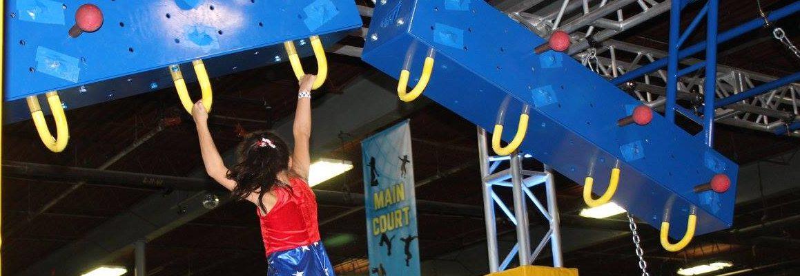 Kids Ninja Warrior Competition at Springs Adventure Park in COlorado Springs, CO