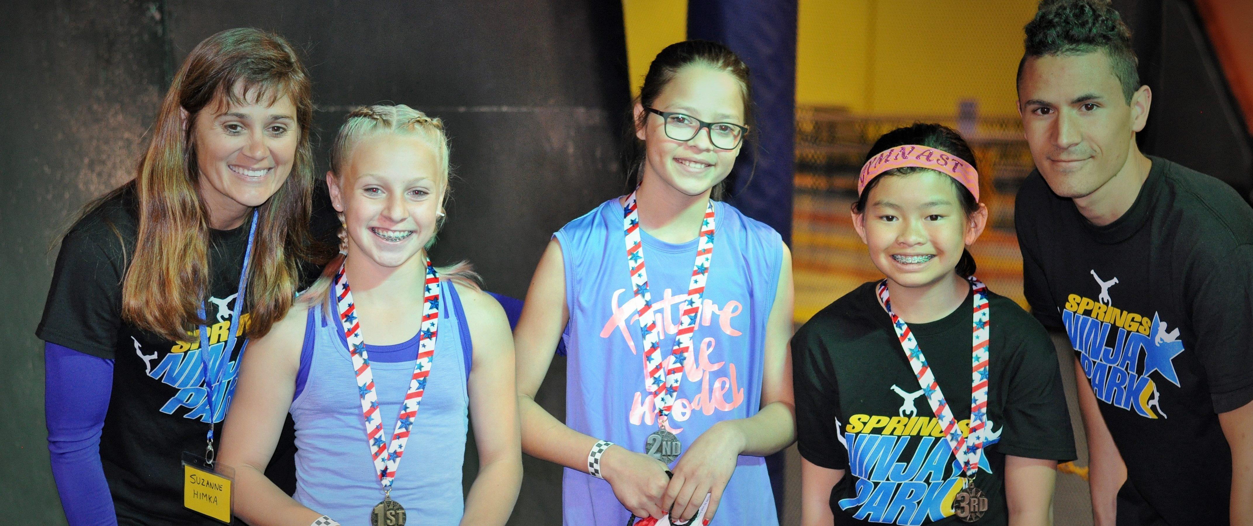 Awards for Kid Ninja Warriors at Springs Adventure Park, COlorado SPrings, CO